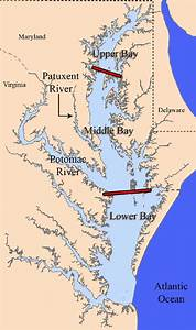 Map Of Chesapeake Bay Area And Sub