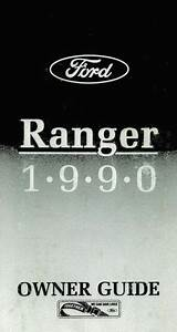 1990 Ford Ranger Owners Manual User Guide Reference