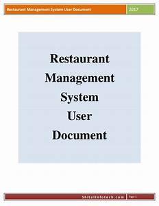 Restaurant Management Software User Manual By Shital Infotech