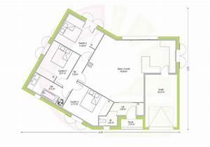 maison de plain pied ossabel 90 m2 With plan de maison plain pied en v
