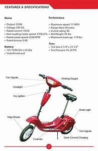 Diagram  Zappy Classic Electric Scooter Diagram Owners