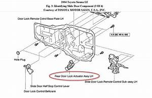 Toyota Sienna Le 2004 The Sliding Door Lock Actuator The