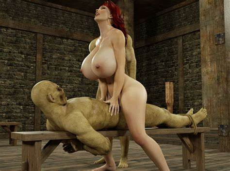 Incredibly Monster 3d Horse Fucking A Curvy Stunningly 3D Cous Bounce On A Giant Tasty Orc Dicks