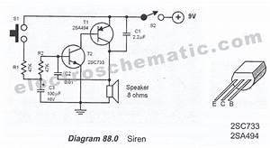 Circuitos Eletr U00f4nicos   Circuito De Sirene Simples