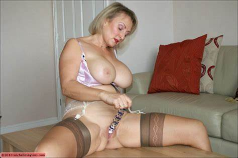 Adorable Old Hottie Masturbates In Tight And Lingerie