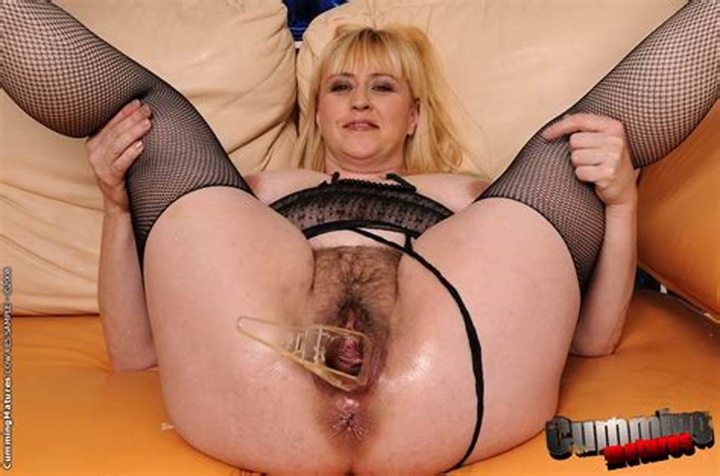 #Blonde #Mature #Gets #Her #Itching #Hairy #Pussy #Fingered