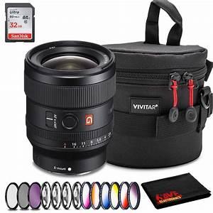 Sony Fe 24mm F  1 4 Gm Lens  Intl Model  Accessory Kit