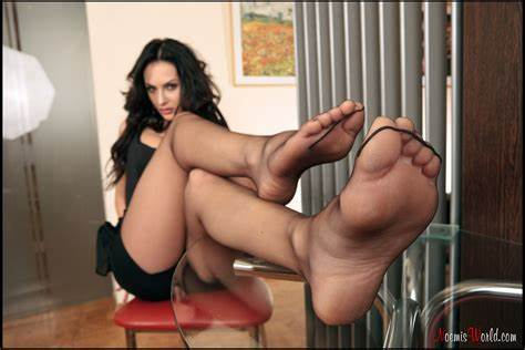 Swedish Footjob In Nylons