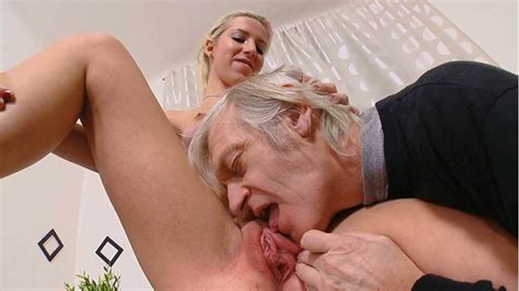 #An #Old #Fart #Fucks #Gorgeous #Blonde #Babe #On #The #Table #After