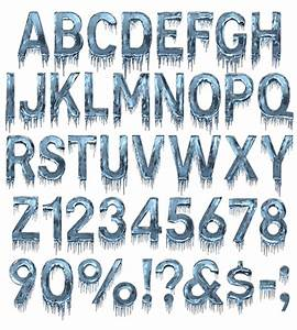 Buy Ice Cold Font, Beautiful Frozen Typeface Perfect For ...