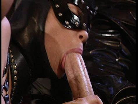 Plugged Clit Tranny In Latex Blowjob On Homemade