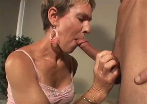 Short Haired Mother Titty Pounded With Facials