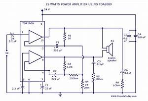 Power Amplifier Circuit Diagram And Schematics For 25