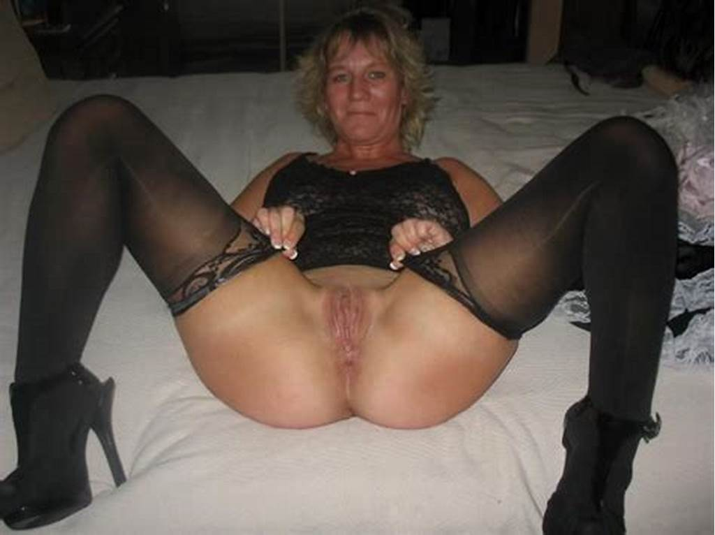 #Mature #Blonde #Wife #Shows #Off #Her #Shaved #Pussy #And #Big #Tits
