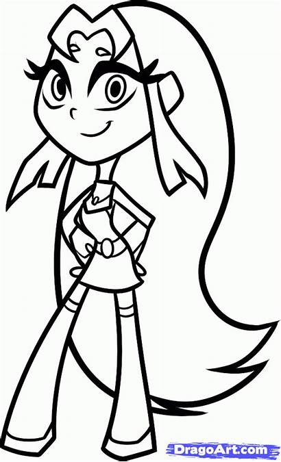 Titans Teen Coloring Pages Cartoons Printable Craft