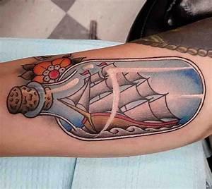 Ship in a Bottle Tattoo | Best Tattoo Ideas Gallery