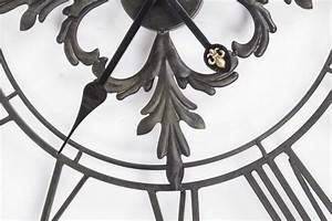 Wanduhr Vintage Metall : wanduhr metall im landhausstil uhr schwarz vintage 102 cm ~ A.2002-acura-tl-radio.info Haus und Dekorationen