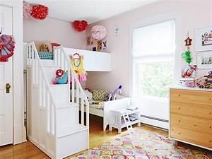 Lit Enfant Double : peinture chambre enfant en 50 id es color es ~ Teatrodelosmanantiales.com Idées de Décoration