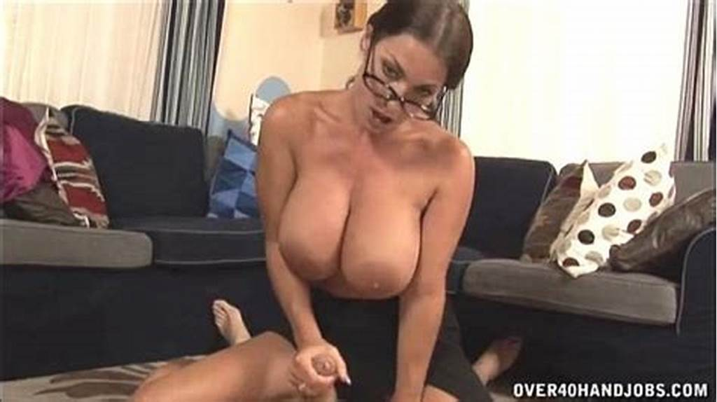 #Hot #Milf #With #Big #Tits #Handjob