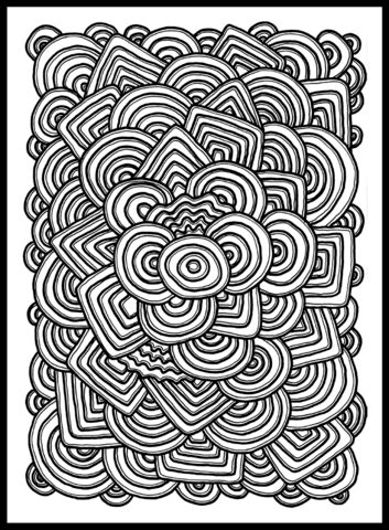 Psychedelic Pattern Coloring page Psychedelic pattern