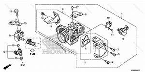 Honda Scooter 2016 Oem Parts Diagram For Throttle Body