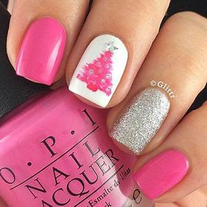 20 Easy & Cute Christmas Nails Art Designs & Ideas 2016