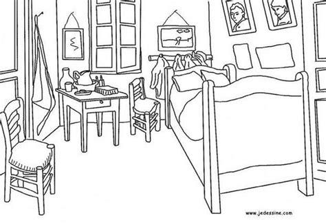 dessin de chambre coloriages la chambre de gogh à arles fr hellokids com