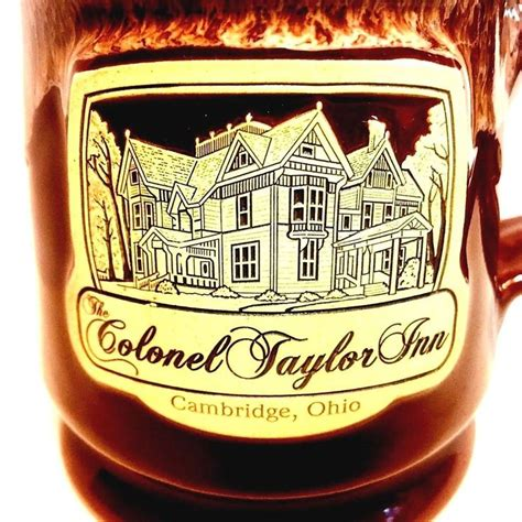The population was 10,635 at the 2010 census. Colonel Taylor Inn Ohio Mug Deneen Pottery Cambridge ...