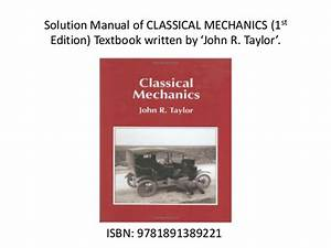 Classical Mechanics By John R Taylor Free Download