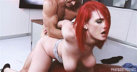 Spunky Red Haired Pornstar Banged And Masturbation