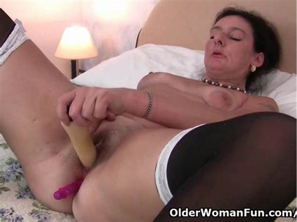#British #Granny #Loves #Dildo #Up #Her #Ass #English #Milf #Gilf