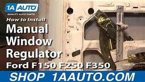 How To Install Replace Manual Window Regulator Ford F150
