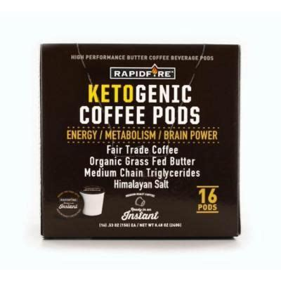 Crafted organically with coconut oil, mcts and. Rapid Fire Ketogenic Coffee Pods, 8.5 Oz, 16 pods Reviews 2021