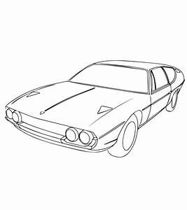 Auto Kleurplaat Lamborghini  U2022 Kidkleurplaat Nl