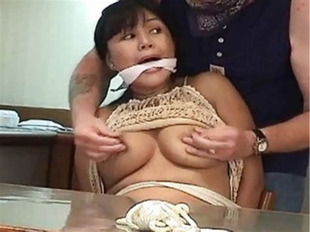 #Mature #Brunette #With #Big #Boobs #Tied #Up #And #Groped