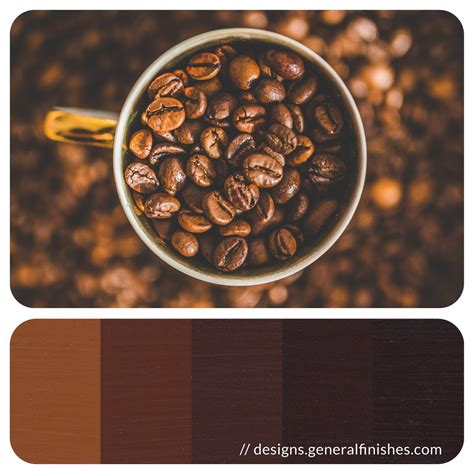 Choosing swimwear compliment skin tone simply beach brown color. Coffee Color Palette | General Finishes Design Center