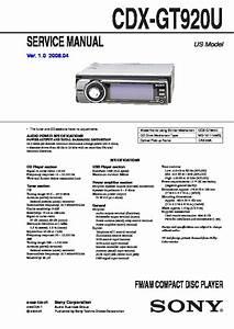 Sony Cdx-gt920u Service Manual