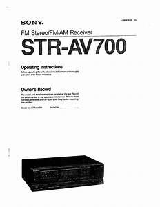Sony Str-av700