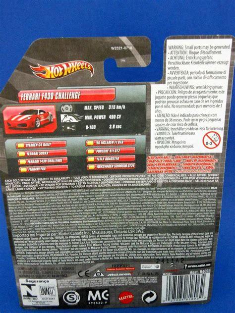 Kondisi hot wheels masih baru dan dalam kondisi mulus. 2010 Hot Wheels Speed Machines Ferrari F430 Challenge - $ 799.00 en Mercado Libre