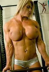 Big tits female muscle