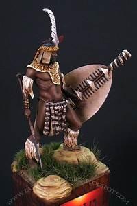 Zulu Warrior By Milan  U0026quot Taiko U0026quot  Dufek  U00b7 Putty U0026paint
