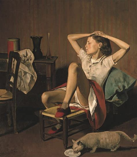 fille nue chambre balthus reveals artist 39 s fixation with cats