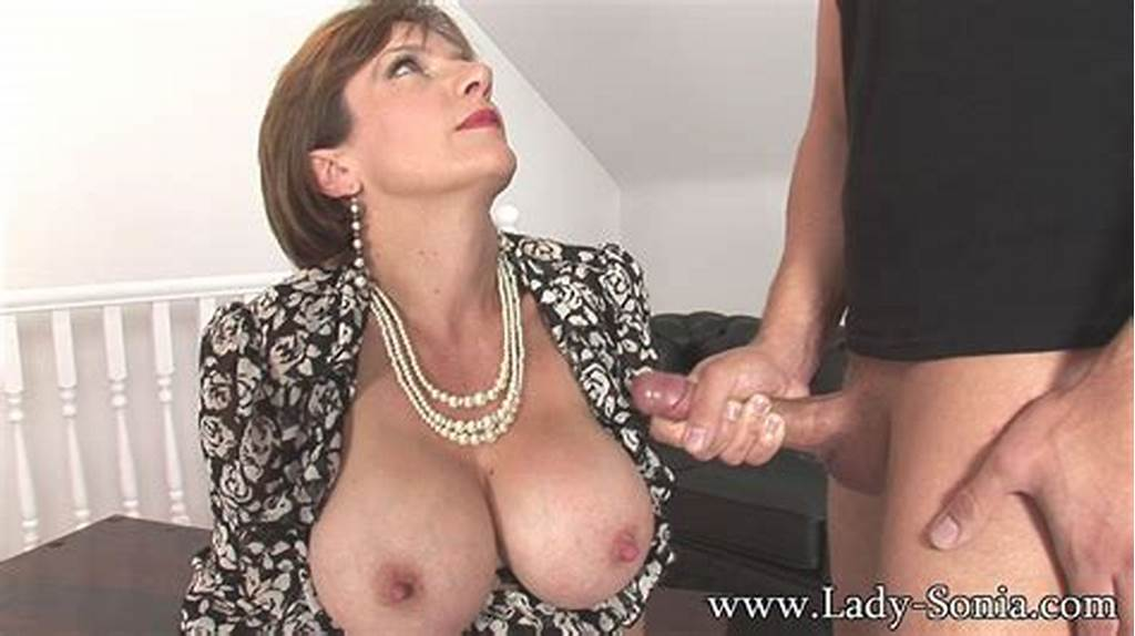 #Lady #Sonia #Stroking #Young #Studs #Hard #Cock