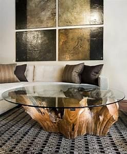 Table Basse Moderne Pas Cher : la table basse bois et verre en 43 photos d 39 int rieur ~ Teatrodelosmanantiales.com Idées de Décoration