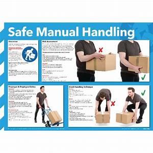 General Safe Manual Handling Sign 420 X 590mm Wc245