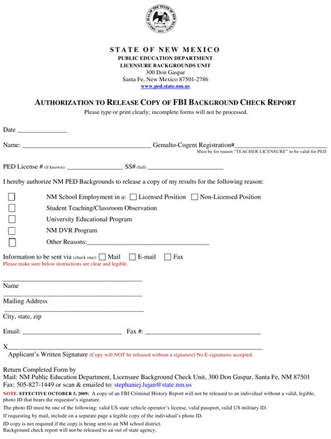 Template, example and guide pdf+word | federal resume guide : New Mexico Authorization to Release Copy of Fbi Background ...