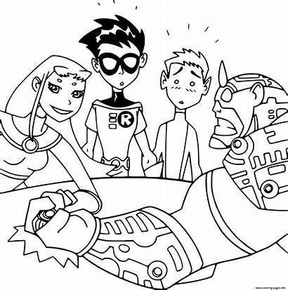 Titans Teen Coloring Pages Printable Challenge