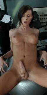 Huge shemale cock flopping hardcore vid
