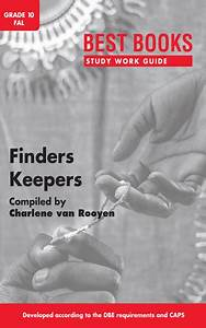 Finders Keepers - Study Work Guide