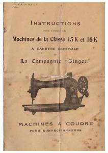 Notice Machine  U00e0 Coudre Singer 15 K Trouver Une Solution  U00e0